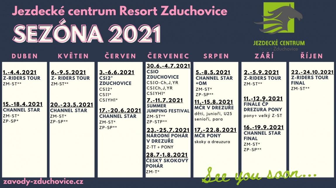 novinky 2020/KALENDÁŘ ZÁVODŮ 2021